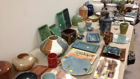 Pottery sale.