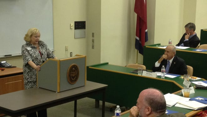 Judge Christy Little, left, opened the West Tennessee Regional Three Branches Institute, Monday afternoon.