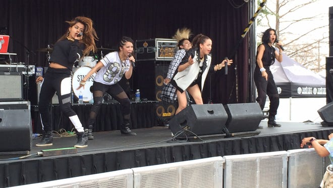 The girl group Blush performing at South By Southwest