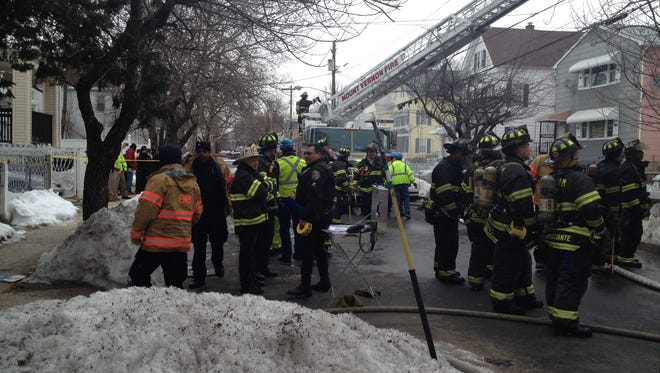 Mount Vernon firefighters battled a South Seventh Avenue blaze Tuesday.