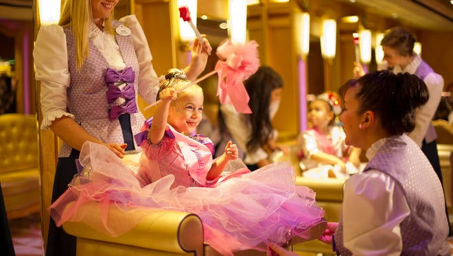 When the young princesses of the future make the royal entrance to the Babidi Babidi boutique, they will be greeted by their own training fairy Godmother, who transforms them with a magical makeover.