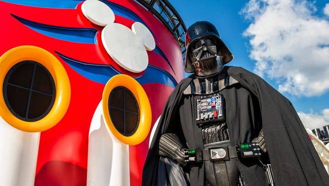 Star Wars characters will appear on a Disney ship for the first time in 2016.