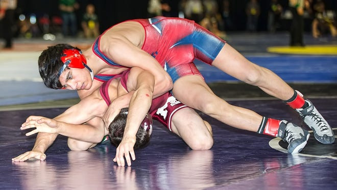 Livonia Franklin sophomore Nathan Atienza placed second at 140 pounds.