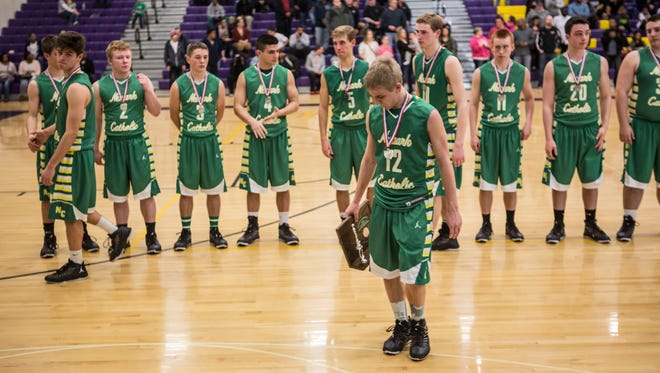 Newark Catholic lost to Harvest Prep 56-48 in the DIV district finals Saturday afternoon.