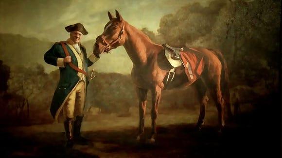 Tony Soprano and his horse.