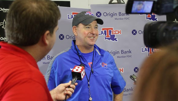 Louisiana Tech Bulldogs hold an afternoon practice