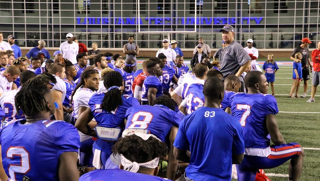 Louisiana Tech held a two-a-day practice Wednesday at Joe Aillet Stadium.