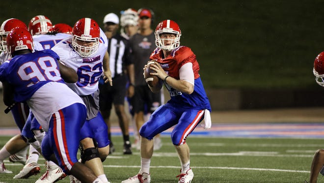 Louisiana Tech quarterback Ryan Higgins was voted as one of four captains in 2016.