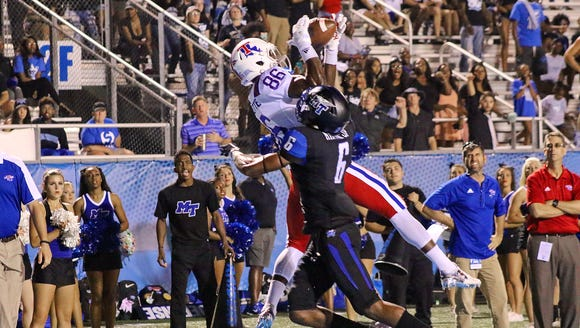 Louisiana Tech wide receiver Rhashid Bonnette hauls