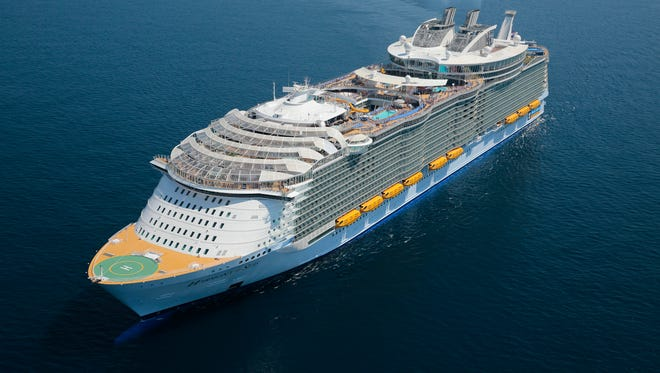 At 226,963 tons, Royal Caribbean's Harmony of the Seas was the largest cruise ship in the world when it debuted in 2016.