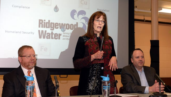 The Ridgewood League of Women Voters hosted a water forum. From left, David Scheibner of Ridgewood Water; Pamela Perron, League of Women Voters; and Richard Calbi, Ridgewood Water.