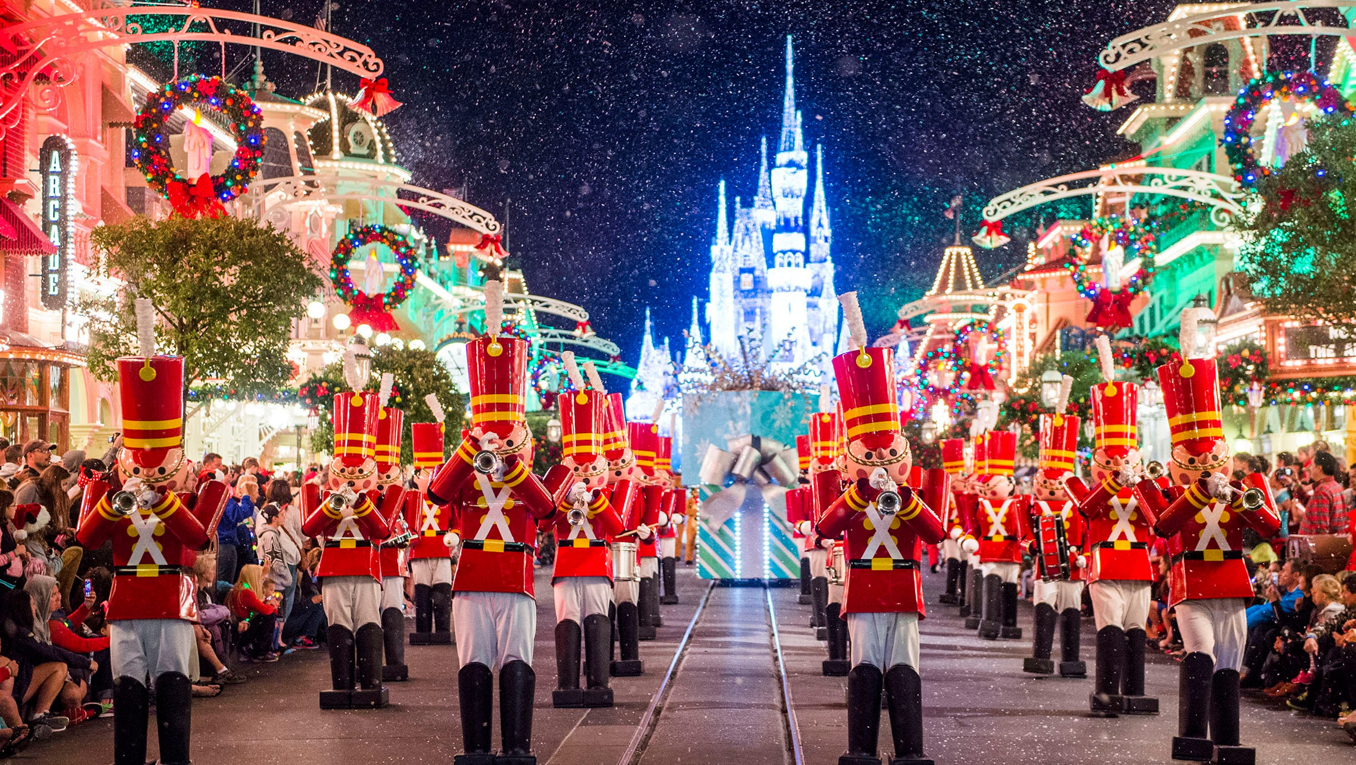 disney world transformed for christmas see all the decorations - When Does Disneyland Decorate For Christmas 2018
