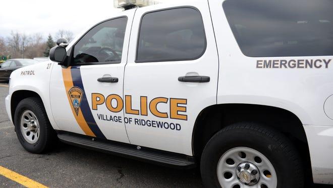 Ridgewood police vehicle.