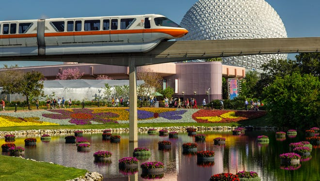 Richly-hued flowers and floating gardens adorn the Epcot International Flower & Garden Festival. The festival, which runs 90 days March 1-May 29, 2017 at Walt Disney World Resort in Lake Buena Vista, Fla., features dozens of character topiaries, stunning floral displays, gardening seminars and the Garden Rocks concert series - all included in regular Epcot admission. (Matt Stroshane, photographer)