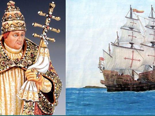 Pope Alexander VI drafted the treaty and wanted primarily to take care of Spain. Soon, Spanish ships were sailing the Atlantic in search of new lands, which they believed to be islands.