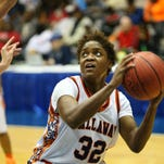 Callaway's Tiara Robbins (32) shoots against Stone High during  the MHSAA Girls State Basketball Tournament quarterfinal action held at the Mississippi Coliseum.