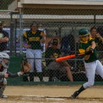 CMR senior McCall Enott cracks a home run during the State AA tournament in Missoula.