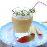 Mango lassi is a refreshing treat on a hot summer day.