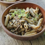 Mushroom miso pasta. i This recipe tastes far richer, creamier and more sinful than it actually is.