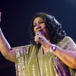 "Charles Sykes, Invision/AP FILE - In this May 11, 2013 file photo, Aretha Franklin performs during McDonald's Gospelfest 2013 at the Prudential Center in Newark, N.J. Franklin will not be attending a baseball luncheon during which she was to receive an honor for contributions to civil rights. Franklin, 71, has already canceled several concerts recently because of undisclosed health reasons. In a statement issued Monday, Aug. 19, by Major League Baseball, the Grammy-winning singer referred to ongoing ""treatment"" that prevented her from traveling. (Photo by Charles Sykes/Invision/AP, File) ORG XMIT: NYET821"