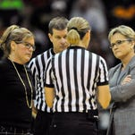 Vanderbilt coach Melanie Balcomb, left, and Tennessee coach Holly Warlick, right, will guide their teams in the rivalry game in Knoxville on Thursday night.