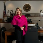 Veteran federal prosecutor Jill Rose, of Asheville, reflects on her career in her office in the downtown Asheville Federal Building.