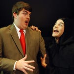 "Chase Cashion as Frederick Frankenstein and Zack Silver as Igor in ""Young Frankenstein"", directed by Jimmy Kontos."