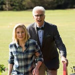 Kristen Bell and Ted Danson star in 'The Good Place,' NBC's lone new fall comedy.