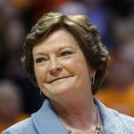 Wade Payne/AP Former Tennessee women?s basketball coach Pat Summitt smiles as a banner is raised in her honor before a game against Notre Dame on Jan. 28, 2013, in Knoxville, Tenn. Amid reports of Summitt?s failing health as her Alzheimer?s disease progresses, her family issued a statement Sunday asking for prayers and saying Summitt is surrounded by the people who mean the most to her. FILE - In this Jan. 28, 2013, file photo, former Tennessee women's basketball coach Pat Summitt smiles as a banner is raised in her honor before the team's NCAA college basketball game against Notre Dame in Knoxville, Tenn. Amid reports of Summitt's failing health as her Alzheimer's disease progresses, her family issued a statement Sunday, June 26, 2016, asking for prayers and saying that the former Tennessee women's basketball coach is surrounded by the people who mean the most to her. (AP Photo/Wade Payne, File)