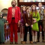"Shree Crooks, left, stars as Zaja, Viggo Mortensen as Ben, Samantha Isler as Kielyr, Nicholas Hamilton as Rellian, Annalise Basso as Vespyr, and George MacKay as Bo in ""Captain Fantastic."""