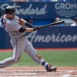 Outfield misplay hurts Twins in 8-7 loss to Jays