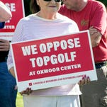 Neighbors gather to rally against Topgolf location