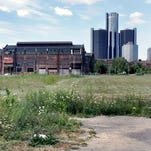 General Motors' headquarters at the Renaissance Center highrise office complex is seen n this 2010 file photo in Detroit