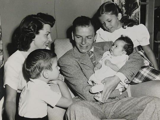 Frank Sinatra with his family: Wife Nancy Sinatra,