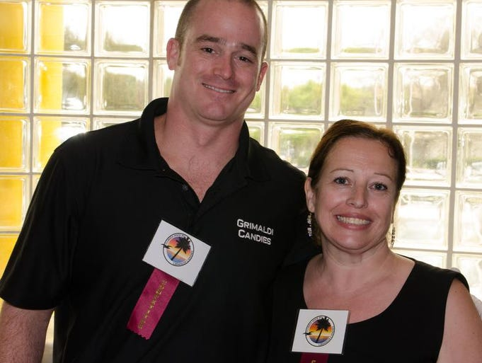 Will Ralston and Annette Hudacek of Grimaldi Candies were on hand at the Zonda Chocolate Festival on Mar. 23 in Melbourne.