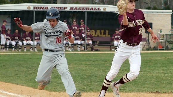 Kennedy Catholic defeated Iona Prep 2-1 in nine innings in a varsity baseball game at Iona Prep April 24, 2018.