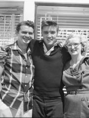 Marion Keisker, seen here with Sun Records founder Sam Phillips and Elvis Presley, will have a historical marker dedicated to her and to pioneering all-female radio station WHER on August 9.
