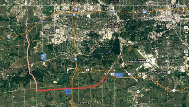 Veterans Parkway and Grand Prairie Parkway would create a new southwest loop around metro Des Moines.