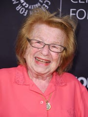 Sex therapist/TV personality Ruth Westheimer attends