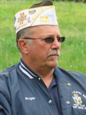 Roger Fuller reflects during a remembrance event held on Memorial Day in 2017.