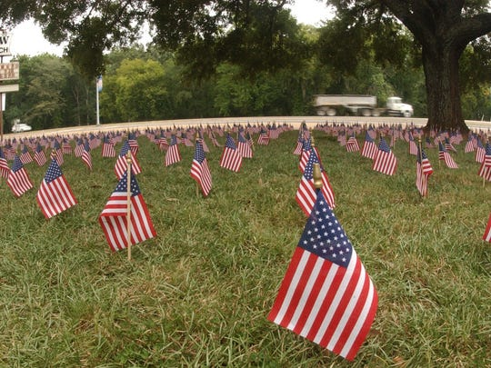 Hundreds of American flags were placed on the  lawn of Parkview Baptist Church on MacArthur Drive  in September 2002 as a tribute to victims of the Sept. 11 terror attacks on the one-year anniversary. It has been 15 years since the attacks, but their impact remains strong.