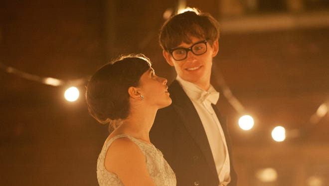 "Felicity Jones stars as Jane Wilde and Eddie Redmayne stars as Stephen Hawking in Academy Award winner James Marsh's ""The Theory of Everything"", a Focus Features release."