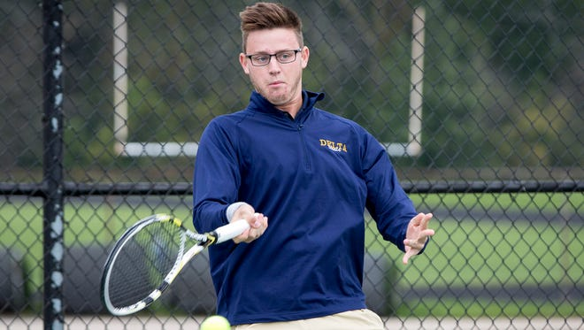 Jay Robillard competes in a match on Oct. 1 against Central.