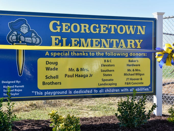 The new playground at Georgetown Elementary School
