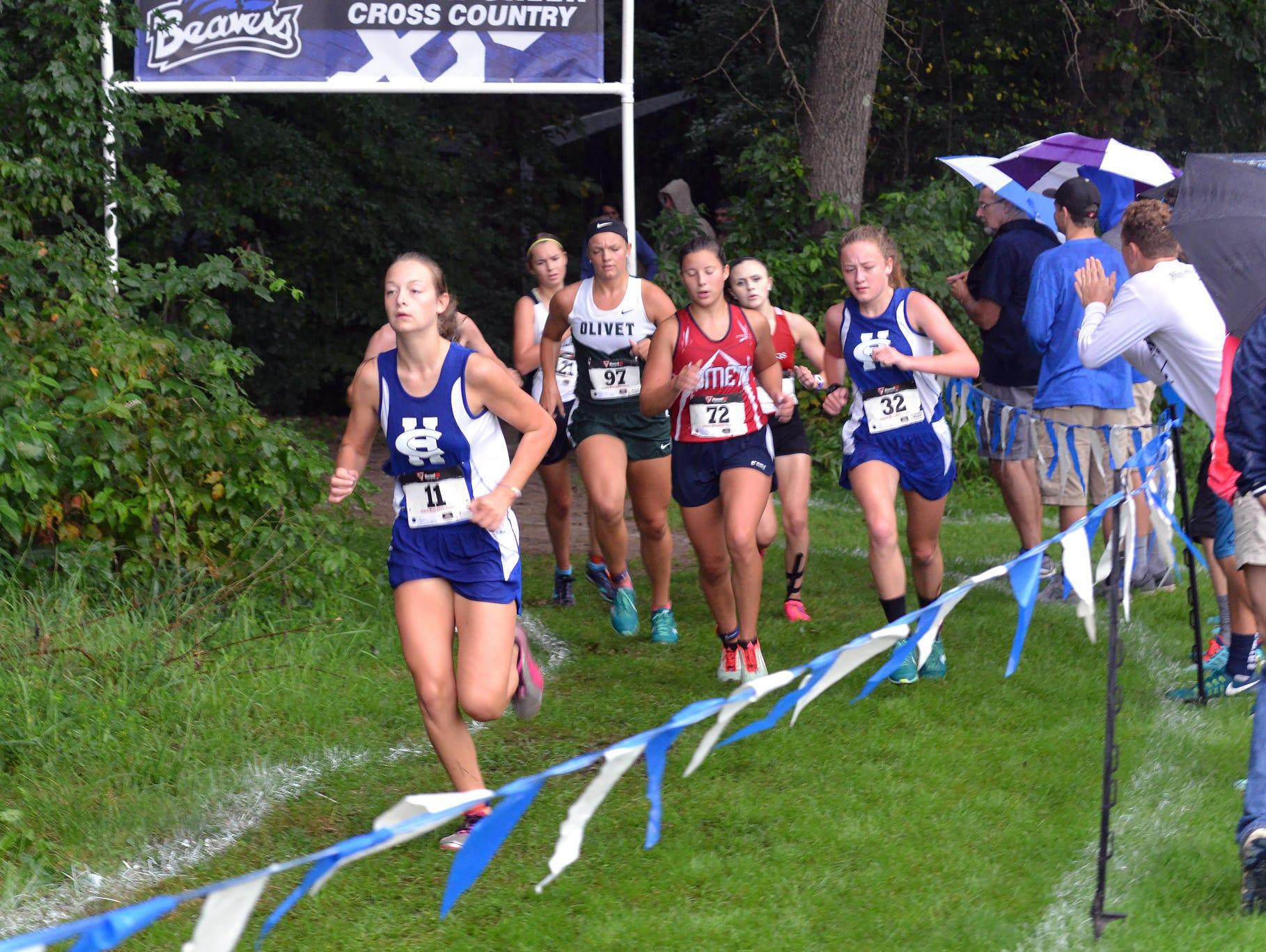 Runners participate in the Harper Creek Optimist Invitational.