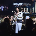 Lionel Richie performs on stage during the 2016 MusiCares Person Of The Year at Los Angeles Convention Center on February 13, 2016 in Los Angeles, California.