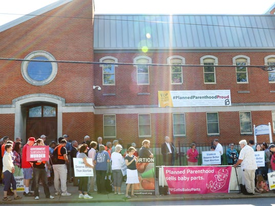 August 22, 2015. Planned Parenthood, Cincinnati, Abortion, Liz Dufour