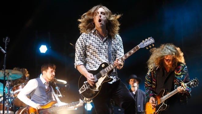 Carl Broemel and My Morning Jacket perform at the 2015 Bonnaroo Music and Arts Festival on June 13, 2015, in Manchester, Tenn.