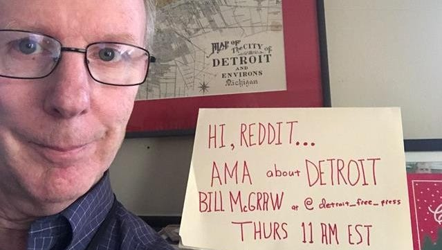 """Bill McGraw is hosting the Detroit Free Press' first Reddit """"Ask Me Anything"""" at 11 a.m. Thursday, Dec. 21!"""