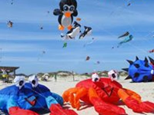 The sky will fill with kites Saturday, Feb. 18, 2017, at the Padre Island National Seashore.